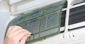 pulizia dei filtri del condizionatore